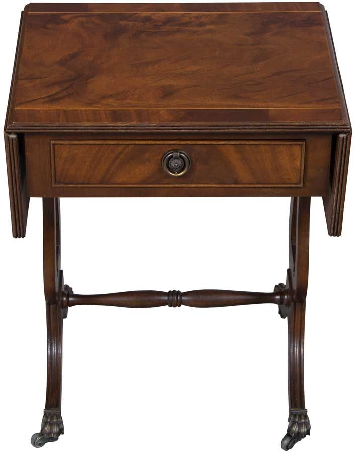 Antique Mahogany Drop Leaf Side Table