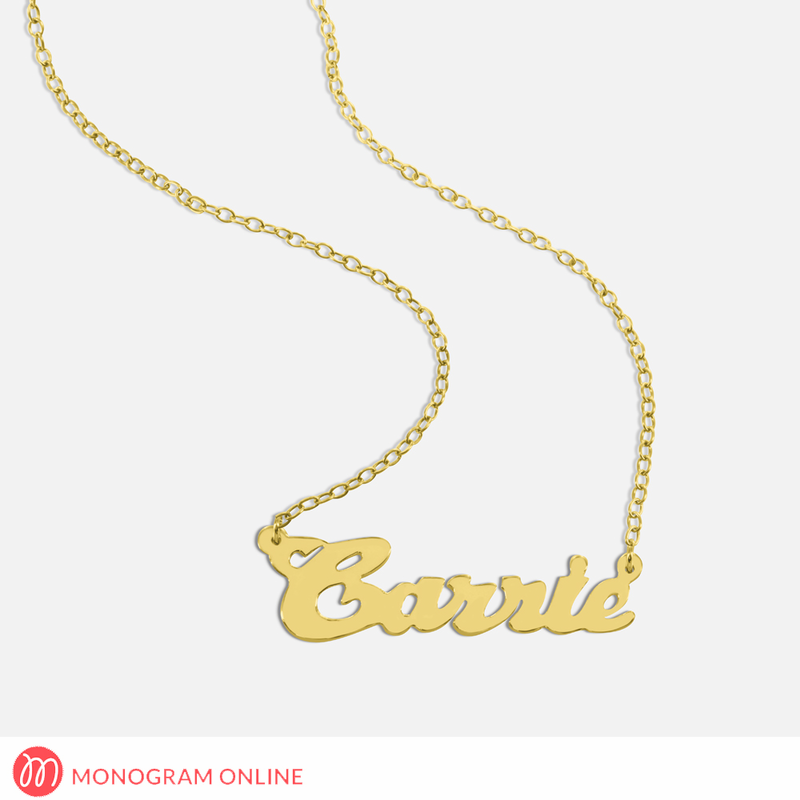 Personalized Silver Name Necklace - Monogram Online