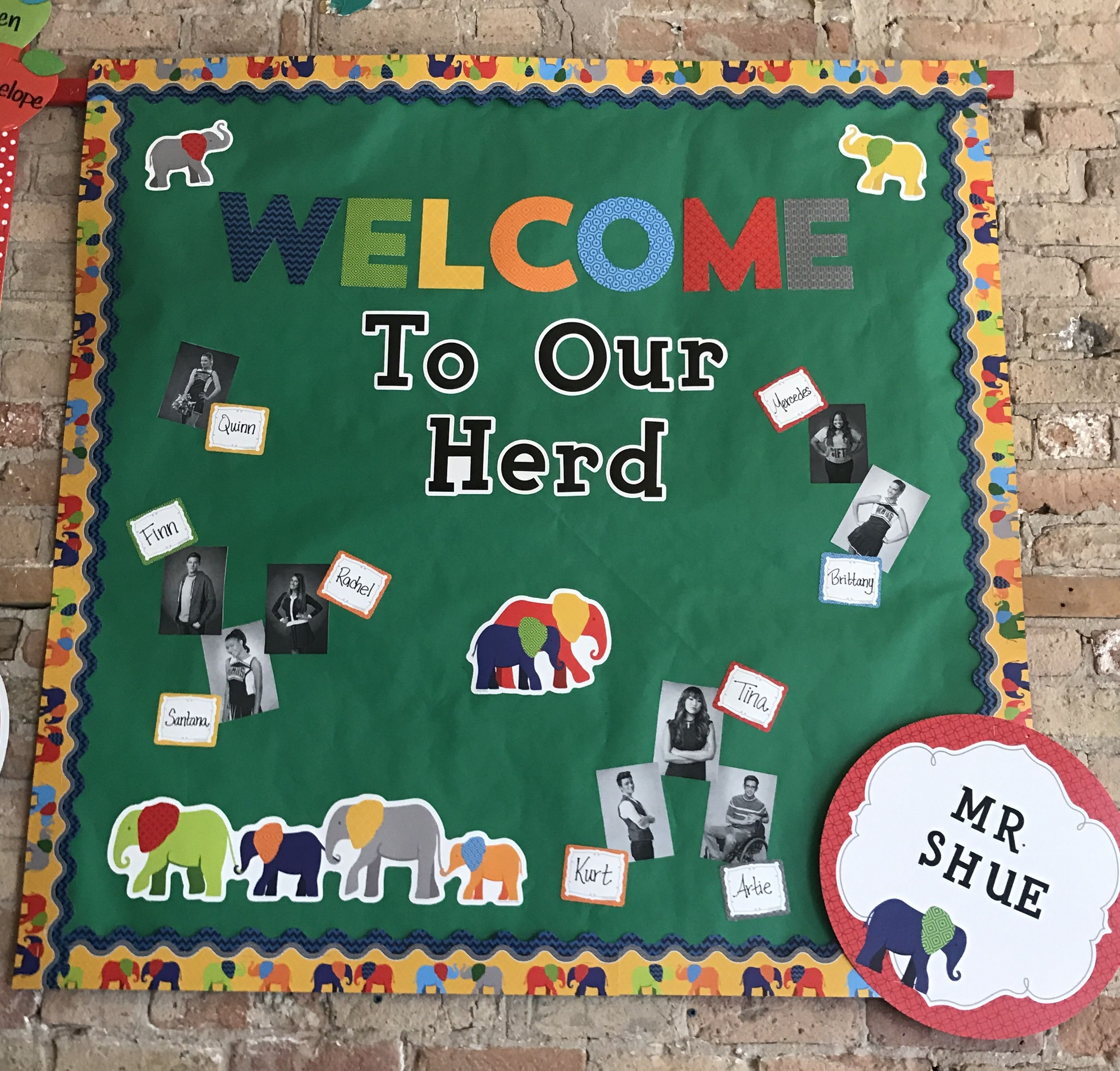 Back To School Bulletin Board We Love This Elephant It S Colorful A Preschool Boards Crafts