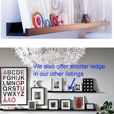 Amazon.com: Ikea Ribba Black Floating Ledge for Photos, Pictures and ...