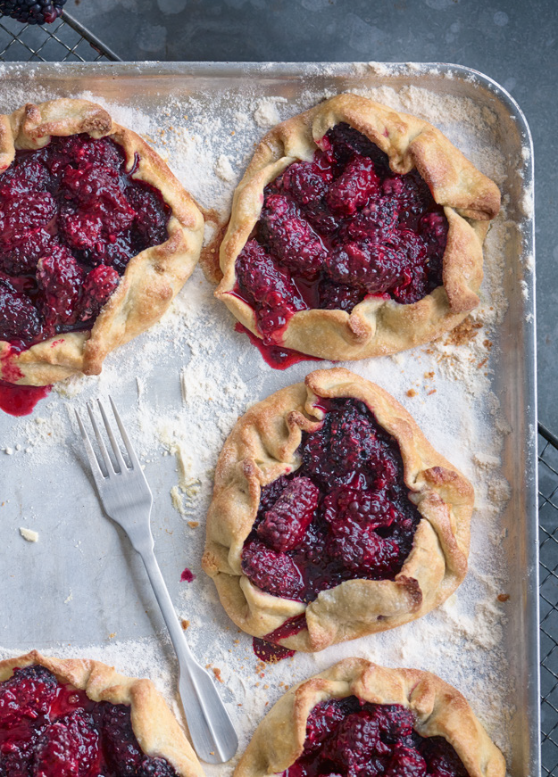 Rustic Blackberry Galettes