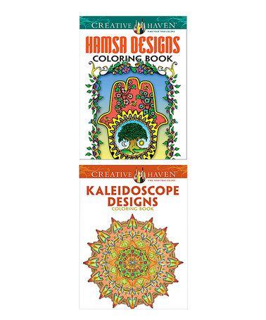 Hamsa & Kaleidoscope Designs Coloring Book Set #zulily #zulilyfinds