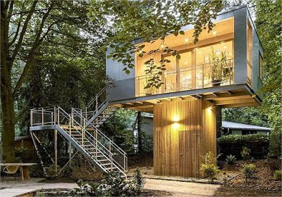 Shipping Container Tree House, Best Design Treehouse | Container ...