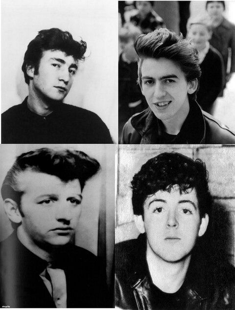THE BEATLES - Before they combed forward, before the iconic Beatle style.