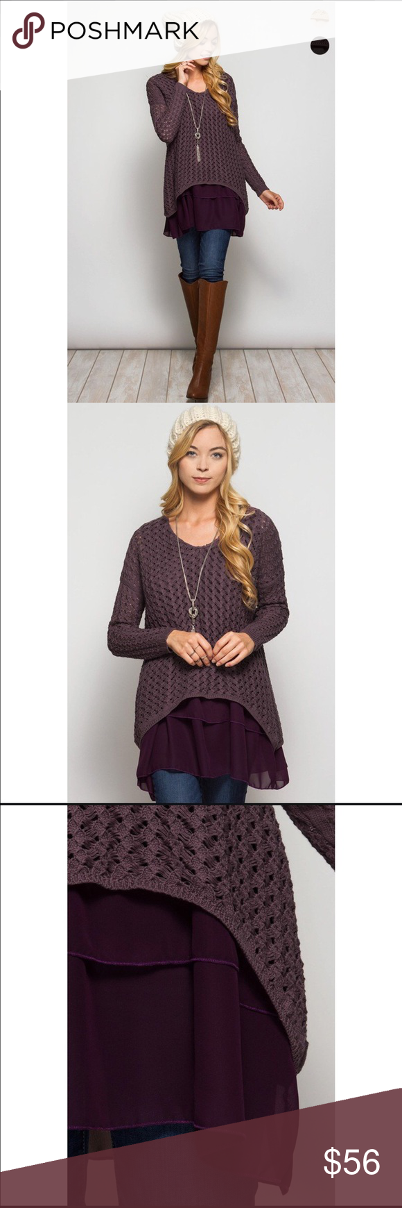 ✨HP✨•Dusty Purple Sweater {SALE} Boutique | Tunics and Layering