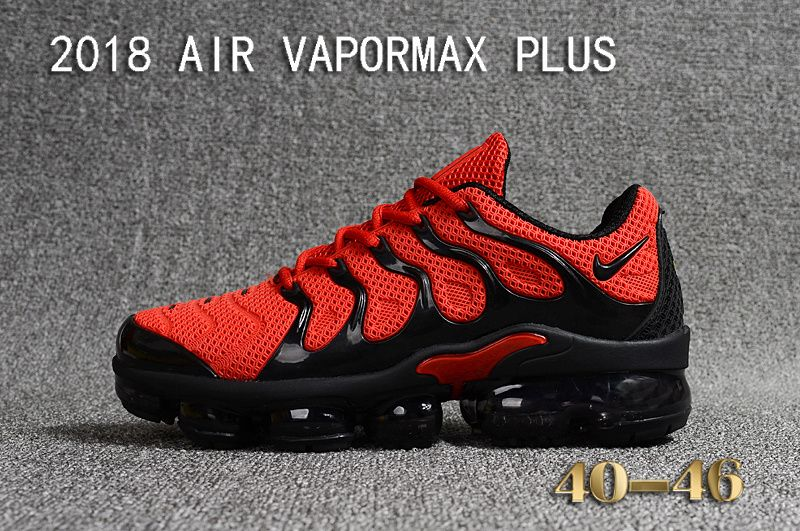 High Quality Nike Air Vapormax Plus KPU Mens Jogging Shoes Red Black On Sale e0d8ed933