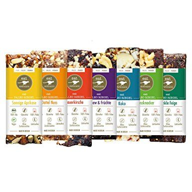 Paleo Bars Variety Box (7x 40g) by eat Performance (organic & vegan cereal bar, no added sugar, gluten free, lactose free, superfood)