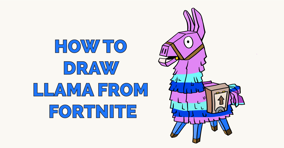 How to Draw Llama from Fortnite Really Easy Drawing