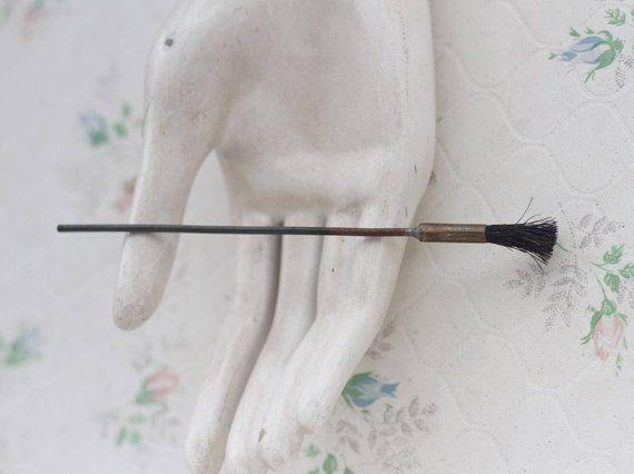 Miniature Brass Broom - Doll Prop - Tiny Brush