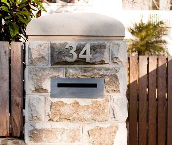Contempory Design Wall Mounted Postbox Inserted Letterbox Designs Letter Box Post Box Wall Design