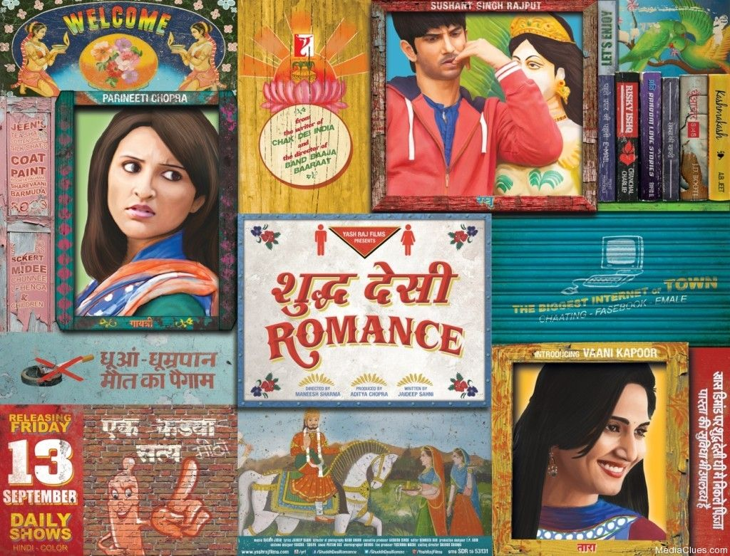 "Release date:- September 13, 2013 Shuddh Desi Romance is an upcoming Romantic comedy Movie directed by Maneesh Sharma and produced by Aditya Chopra. Sushant Singh Rajput and Parineeti Chopra is in the lead roles Shuddh Desi Romance First Look [caption id=""attachment_4197"" align=""align"