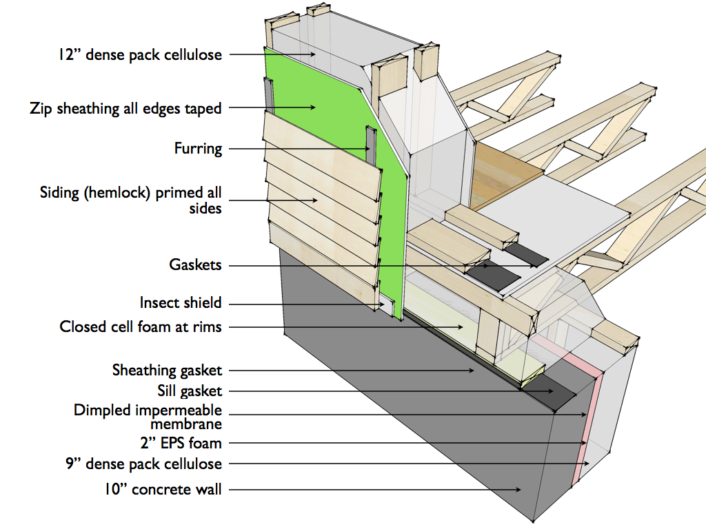 foundation wall section detail architectural construction details