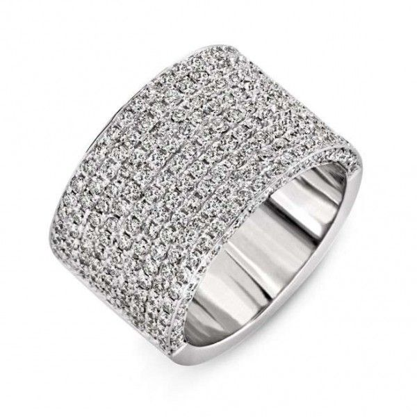 Large Band Diamond Wedding Rings Club