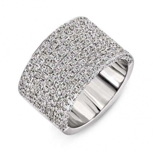 Popular Large Band Diamond Wedding Rings Club