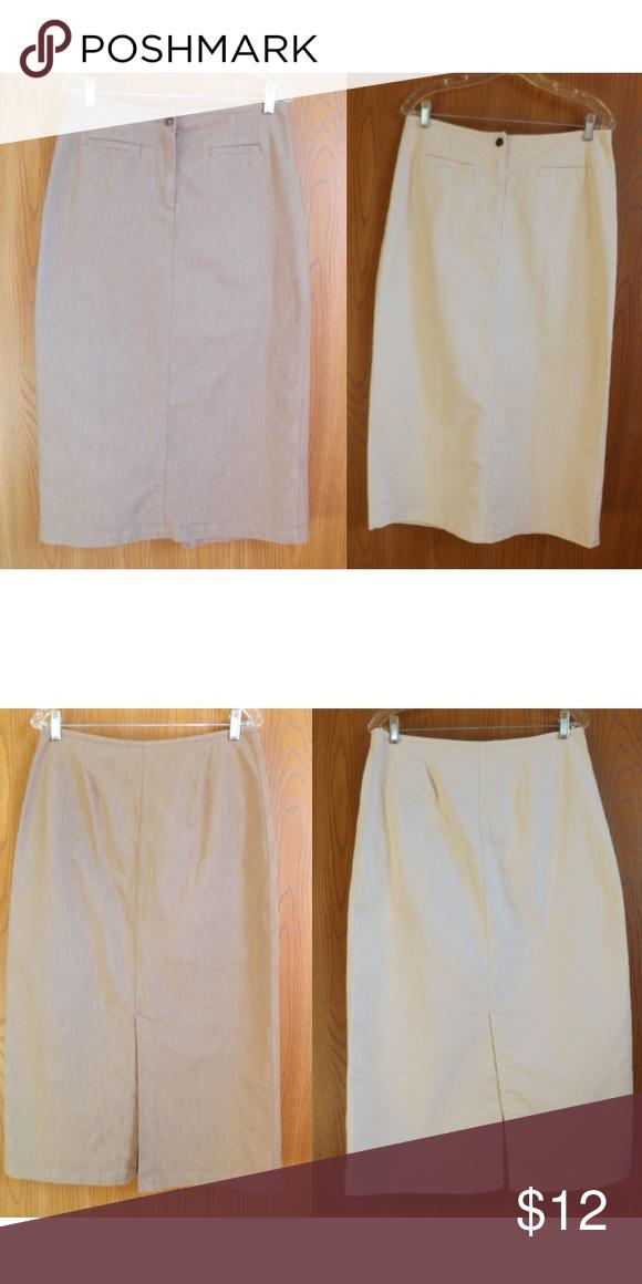 0fbb3123a Lot of 2 Denim Maxi Skirt Christopher & Banks Size 8 denim maxi skirt in