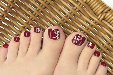 Burgundy Pedicure Simple Toe Nails Easy Toe Nail Designs Toenail Art Designs