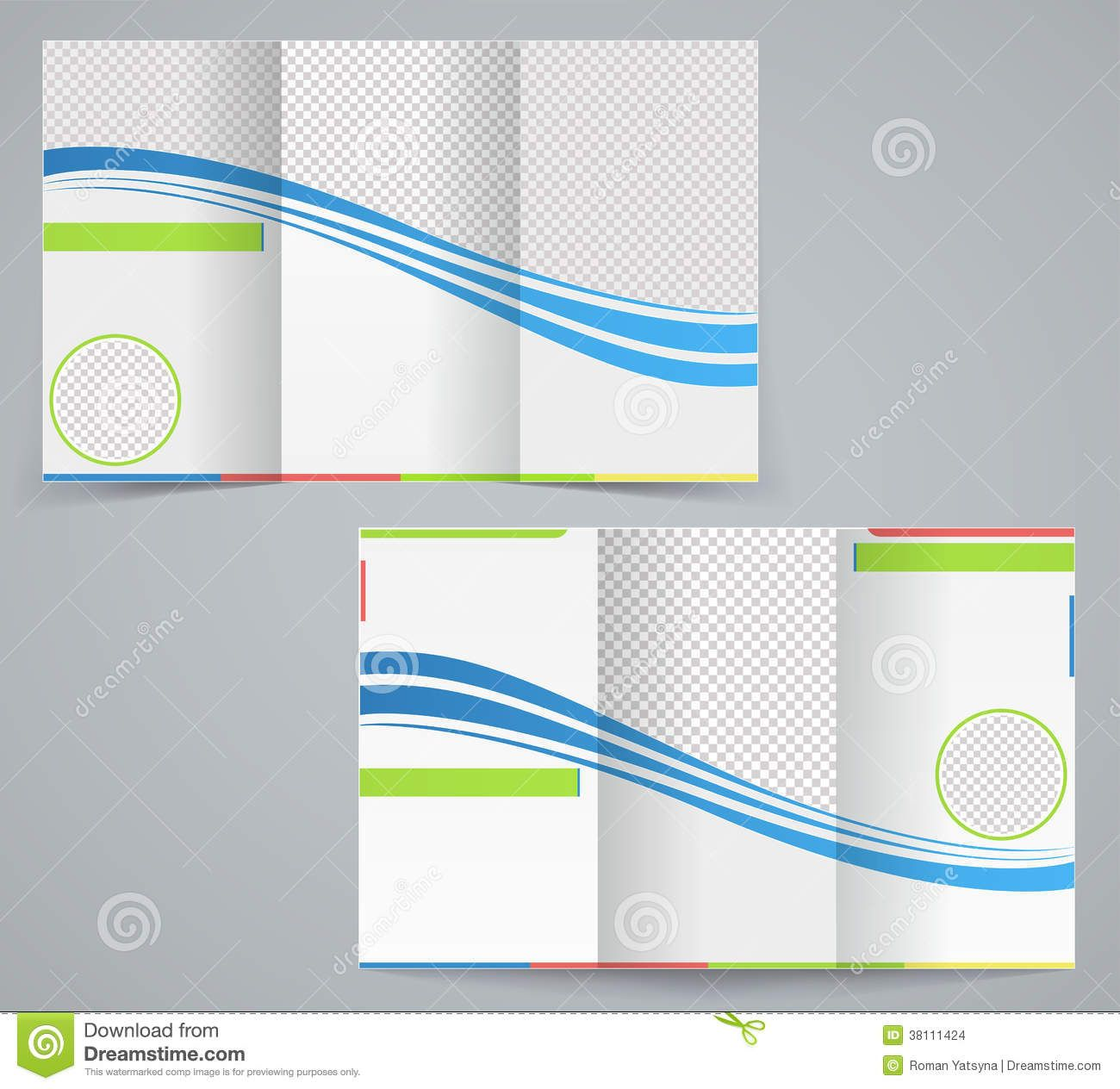 TriFold Business Brochure Template Stock Vector inside 3