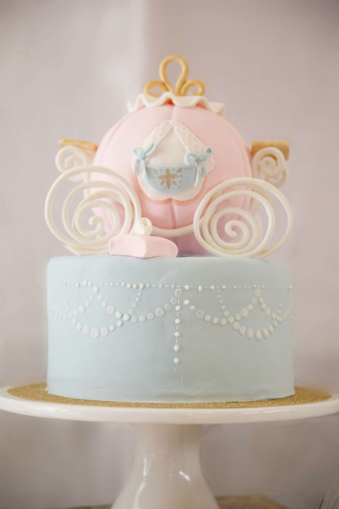 Pastel Princess Cinderella Birthday Party Ideas Decor Cake