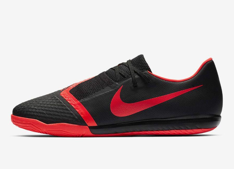 dcfa8dd87 Nike Phantom Venom Academy IC - Black   Black   Metallic Silver   Bright  Crimson  futsal  nikefootball  nikesoccer