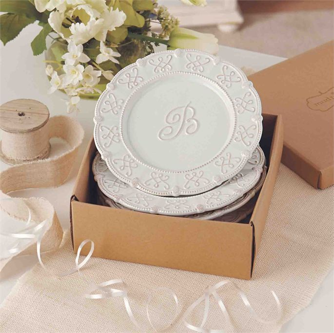 Gifts For Pre Wedding Bride: A Dessert Plate (Set Of 4)