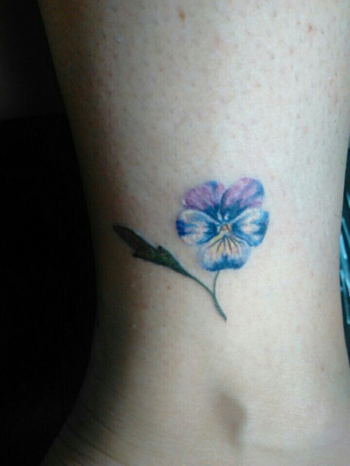 31542c9c9 Image result for small pansies tattoos | tattoos | Pansy tattoo ...