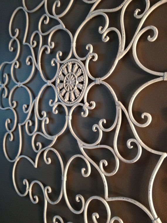 Cast Iron Wall Decor Wall Art Shabby Chic by FromQtoYou on ...