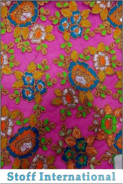 CODING EMBROIDERY FABRICS 501  Design Code : MV-501 Product Name : Coding Embroidery Fabric : Nylon Nett Min. Order Quantity : 1 Roll Features :  Soft & Colorful Texture Thread Colors based on customer choice Flawless & Elegant Finish   Other Information Minimum Order Quantity: 30.00 Meter