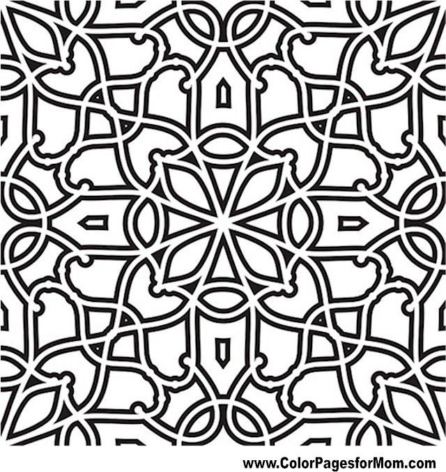 Geometric Shapes Coloring Page 86 Art Deco Tessellations Tiles
