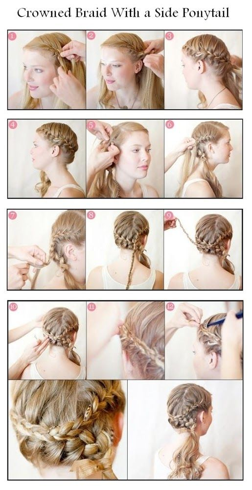 10 Cute Hair Tutorials For Girls Pretty Designs Hair Braid Diy Diy Wedding Hair Side Ponytail Hairstyles