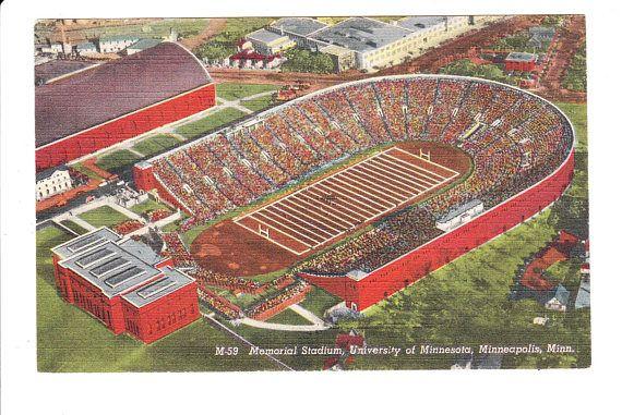 Memorial Stadium University Of Minnesota Minneapolis Vintage