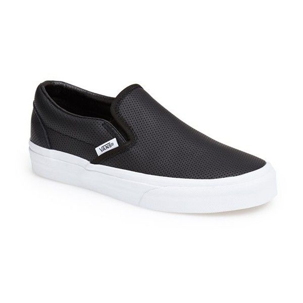 09673375db Vans  Classic  Perforated Slip-On Sneaker ( 60) ❤ liked on Polyvore  featuring shoes