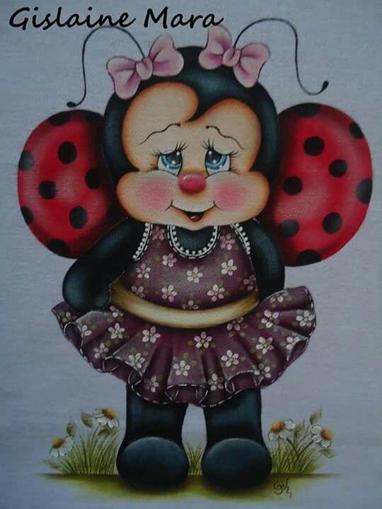 Joaninha Pinturas Pintura Em Tecido Animais Para Pintar