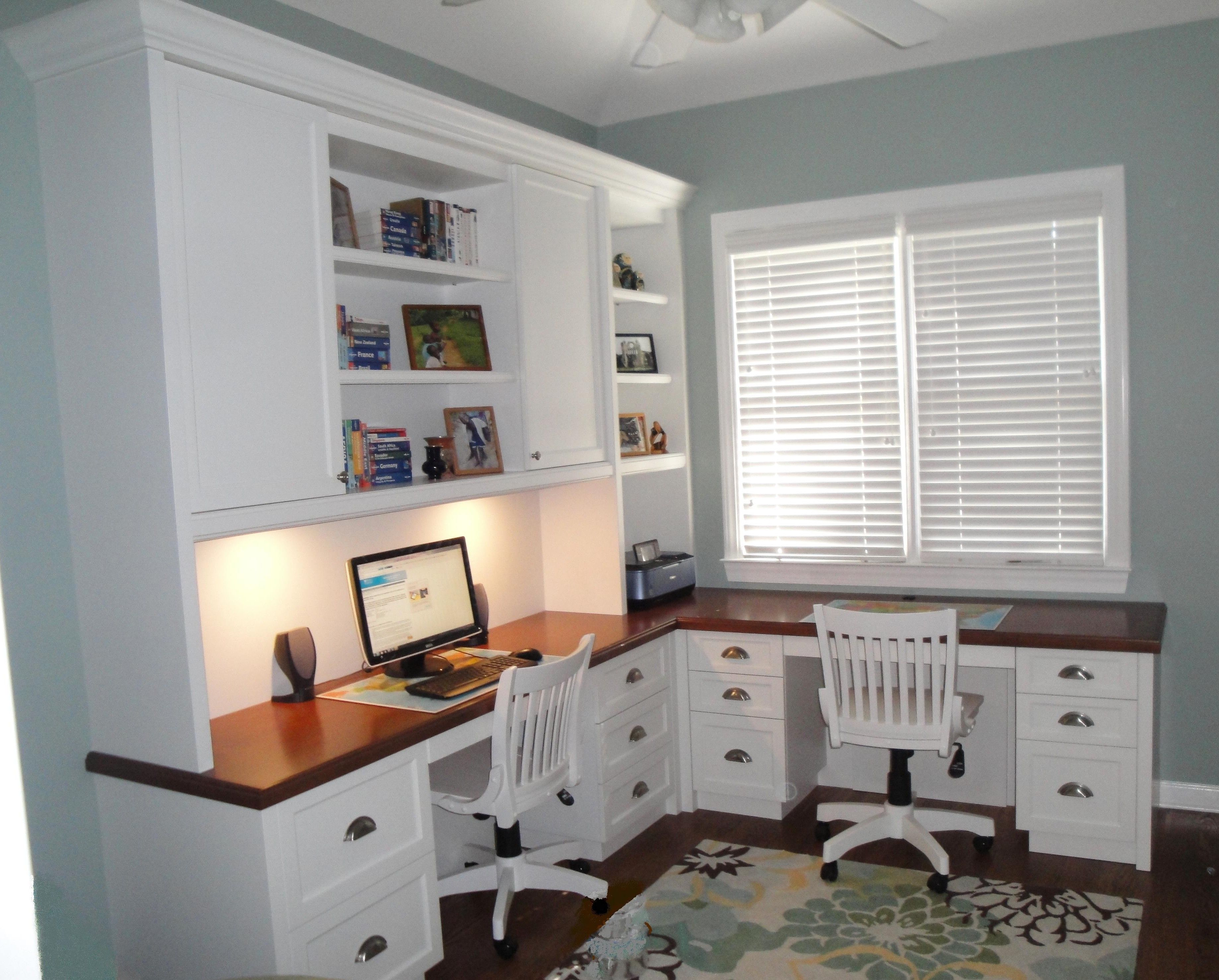 Custom Built Home Office Furniture Shelving Cabinetry In Charlotte Nc Office Built Ins Home Study Design Corner Desk Office