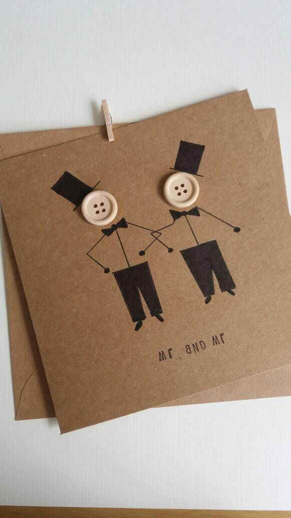 Gay wedding -mr and mr-Same sex marriage -Civil partnership – wedding card – gay couple- marriage