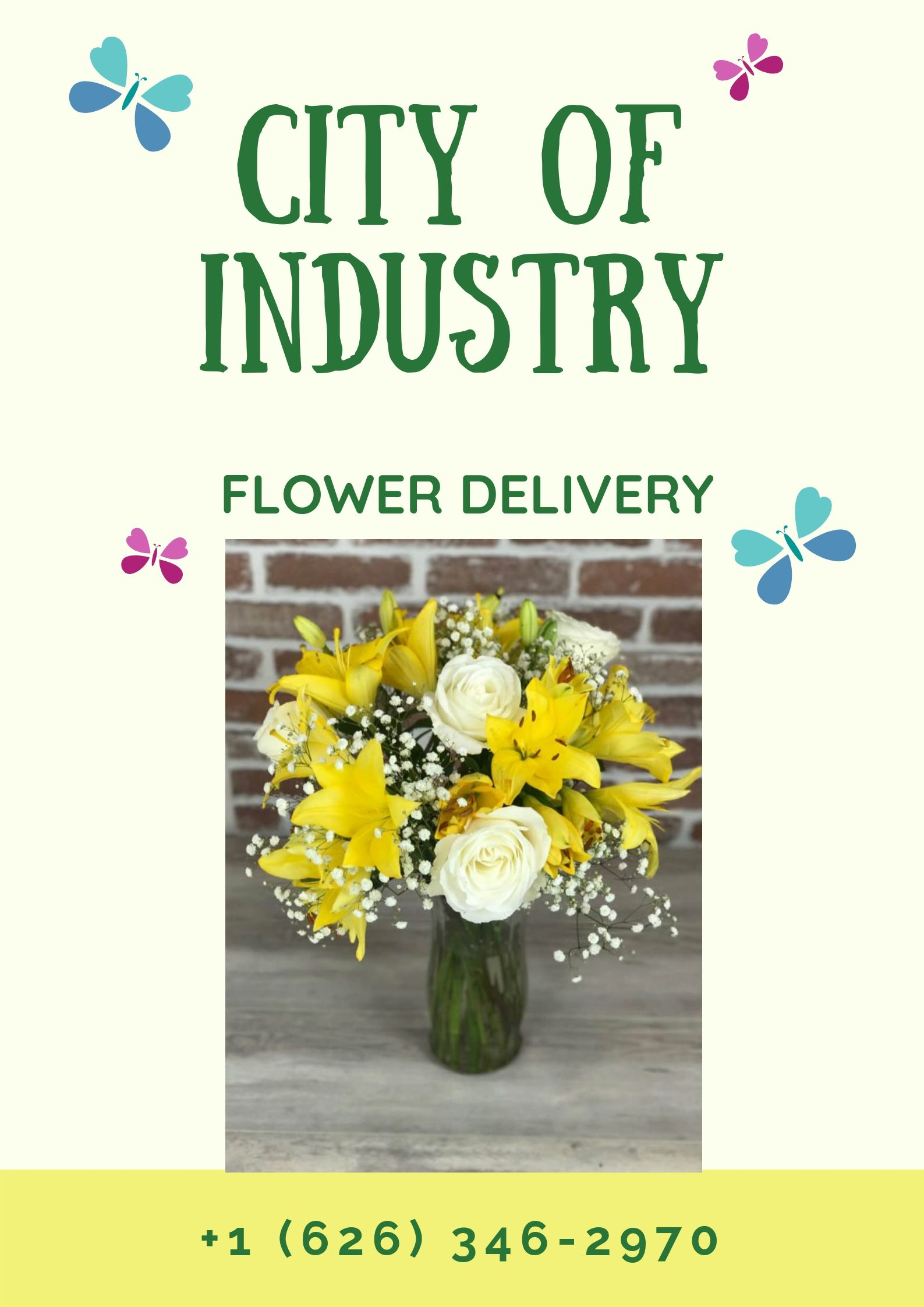 Use flower bouquet to congratulate get well or birthday wishes to