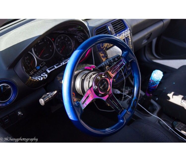 Photo of @lushfullux | nrg steering wheel