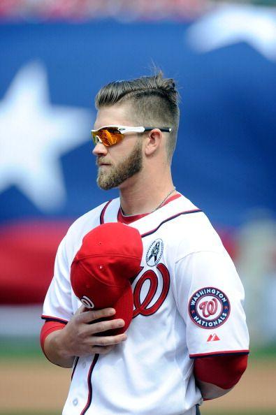 Bryce Harper Bryce Harper Baseball Haircuts Washington Nationals Baseball