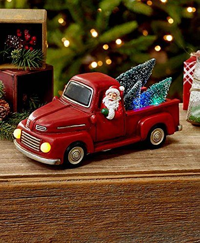 Vintage Red Truck Christmas Decor.Vintage Red Truck With Christmas Tree Christmas And Winter