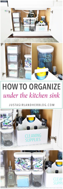How To Organize Under The Kitchen Sink Home Organization