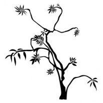 Szablon  malarski, wielorazowy, wzór Drzewko nadziei - flora 132