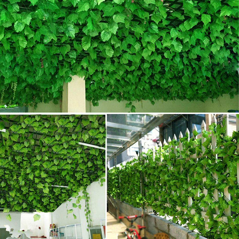 Leaves Decoration: Details About Man-made Plastic Ivy Leaf Garland Plants