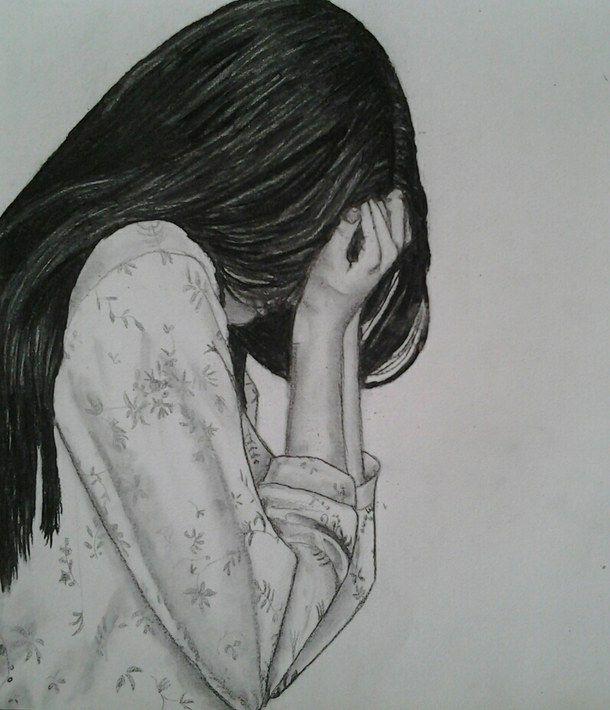 Sad Girl And Mirror Drawing Google Search Art Inspiration