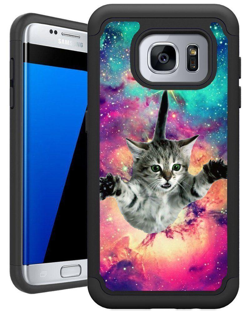 Amazon Com Corpcase Samsung Galaxy S7 Edge Case Galaxy S7 Edge Case Hipster Flying Cat Space Hipster Phone Cases Phone Cases Samsung Galaxy Samsung Galaxy