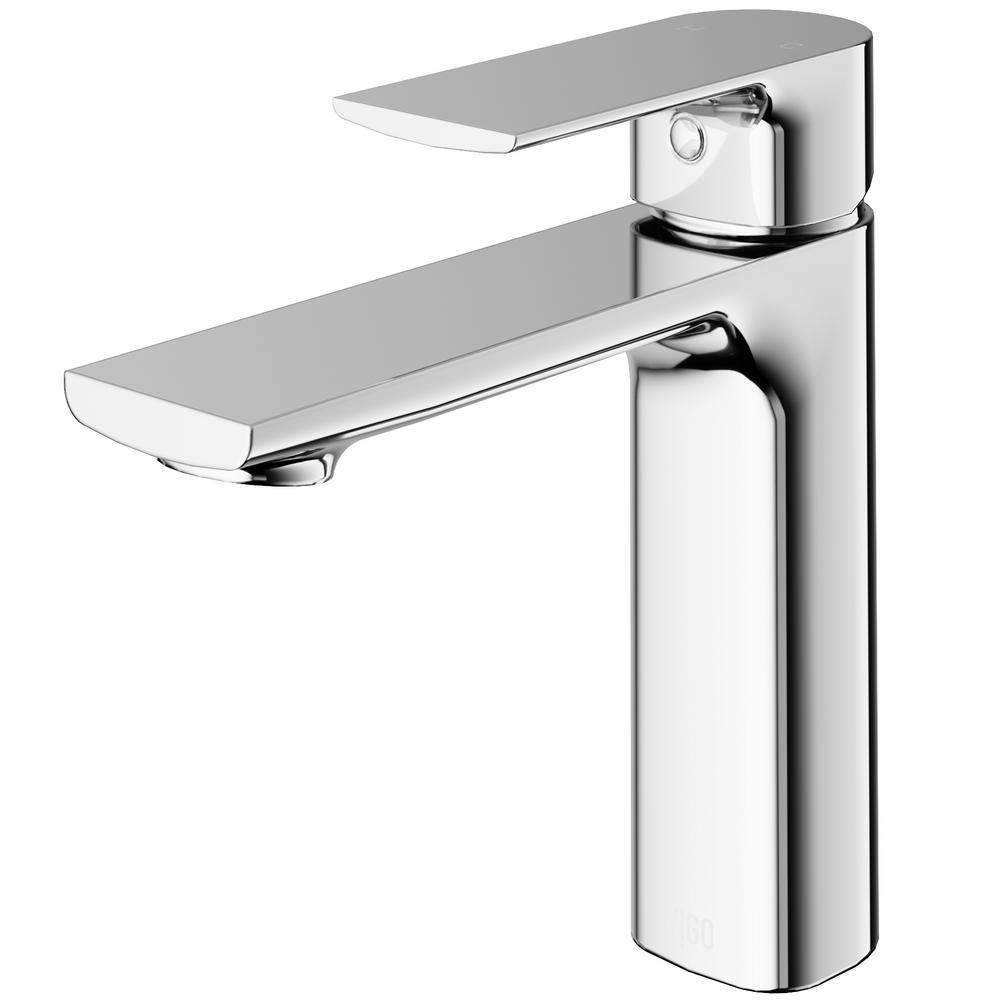 Vigo Davidson Single Hole Single Handle Bathroom Faucet In Chrome Vg01043ch The Home Depot Single Handle Bathroom Faucet Bathroom Faucets Chrome Bathroom Faucets [ 1000 x 1000 Pixel ]
