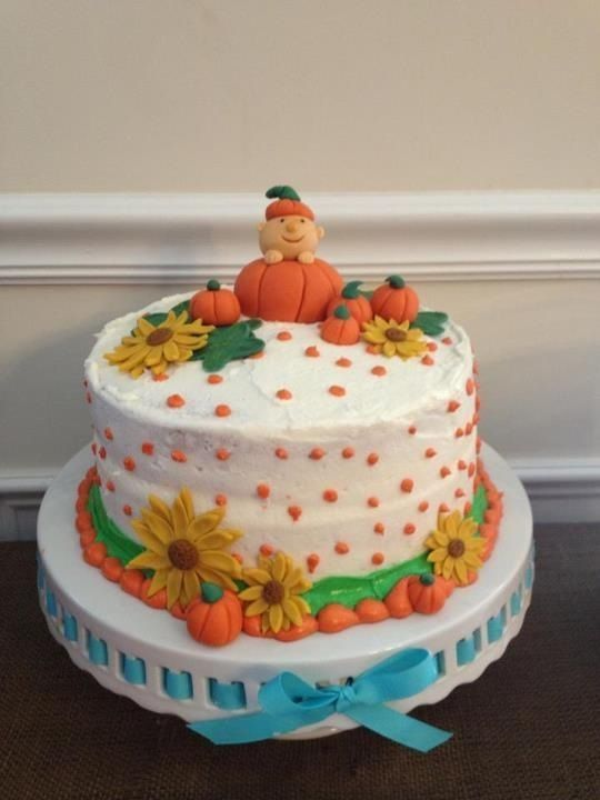 Pumpkin Baby Shower Cake With Images Baby Shower Pumpkin Fall
