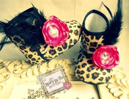 Leopardo bebé botas hechas a mano
