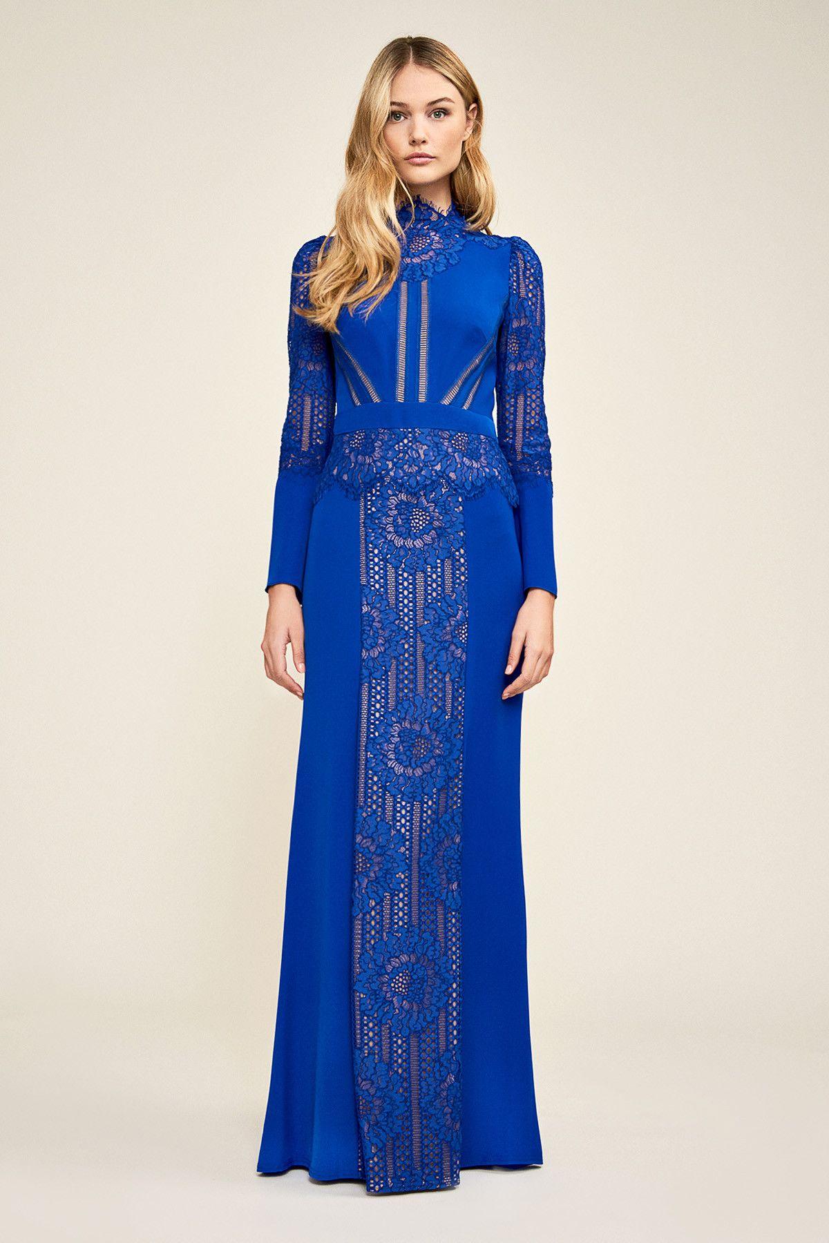 aad3e41c42 Tadashi Shoji - Marianna Crepe Long Sleeve Gown