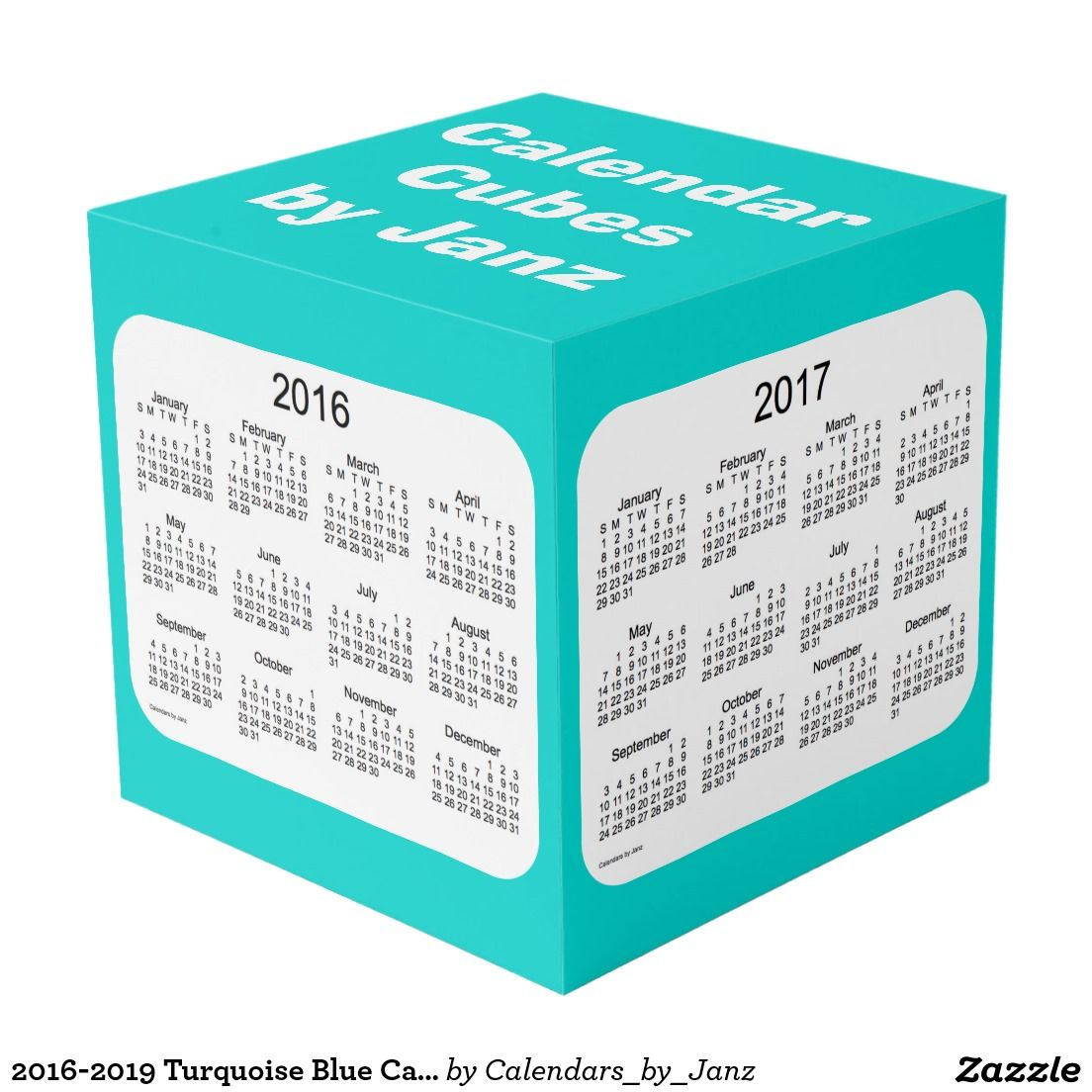 2016-2019 Turquoise Blue Calendar Cube by Janz Photo Cube | Pin it ...