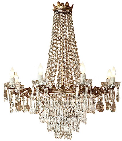 Early 1900\'s Antique Bronze and Crystal Chandelier | lighting ...