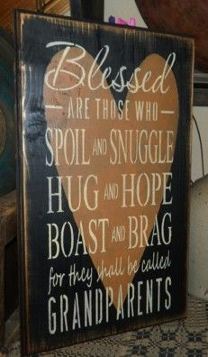 Blessed Grandparents Primitive Sign Signs Painting Pinterest